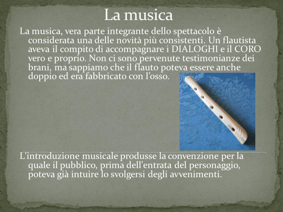 La musica, vera parte integrante dello spettacolo è considerata una delle novità più consistenti. Un flautista aveva il compito di accompagnare i DIAL