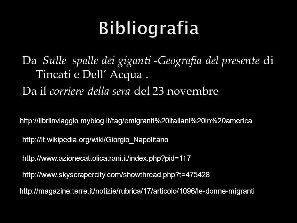 Da Sulle spalle dei giganti -Geografia del presente di Tincati e Dell Acqua. Da il corriere della sera del 23 novembre http://www.azionecattolicatrani
