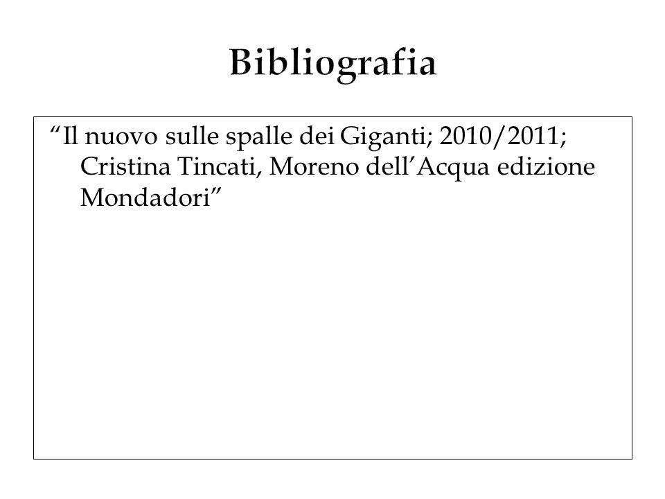 Il nuovo sulle spalle dei Giganti; 2010/2011; Cristina Tincati, Moreno dellAcqua edizione Mondadori