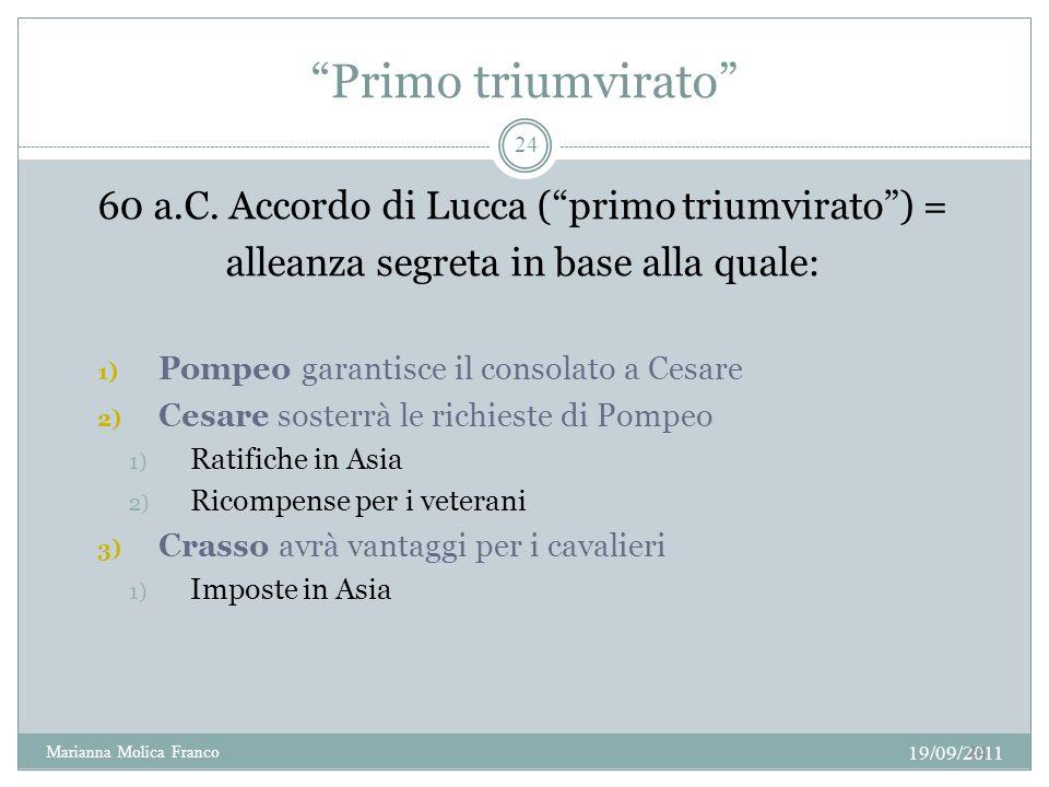 Primo triumvirato 60 a.C.