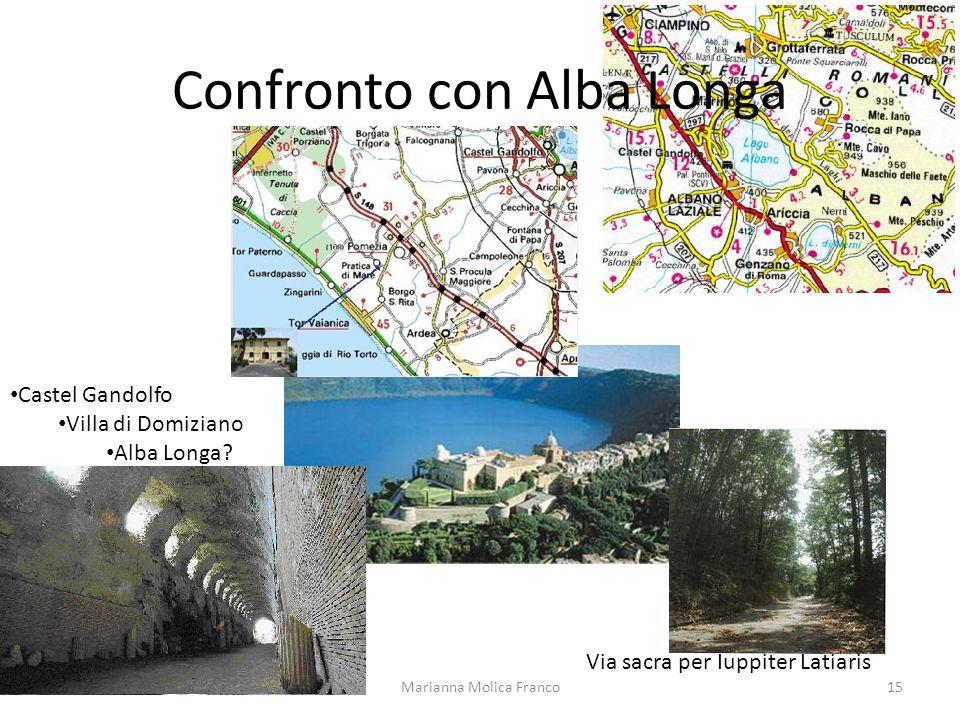 Confronto con Alba Longa Via sacra per Iuppiter Latiaris Castel Gandolfo Villa di Domiziano Alba Longa? 15Marianna Molica Franco