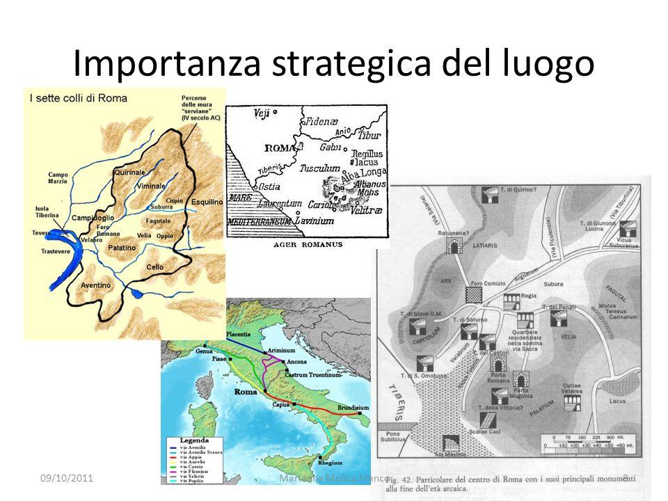 Importanza strategica del luogo 09/10/20118Marianna Molica Franco