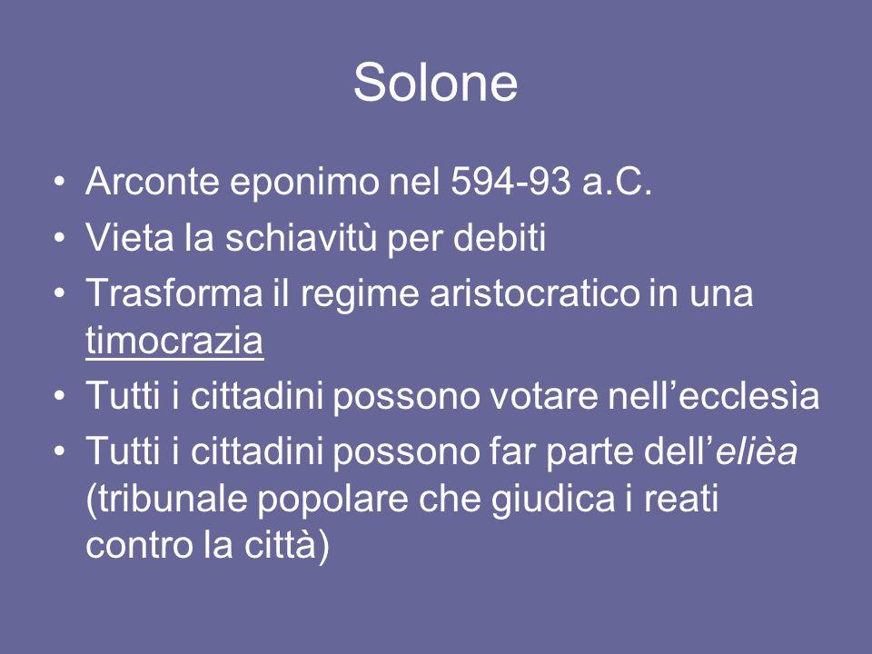 Solone Arconte eponimo nel 594-93 a.C.