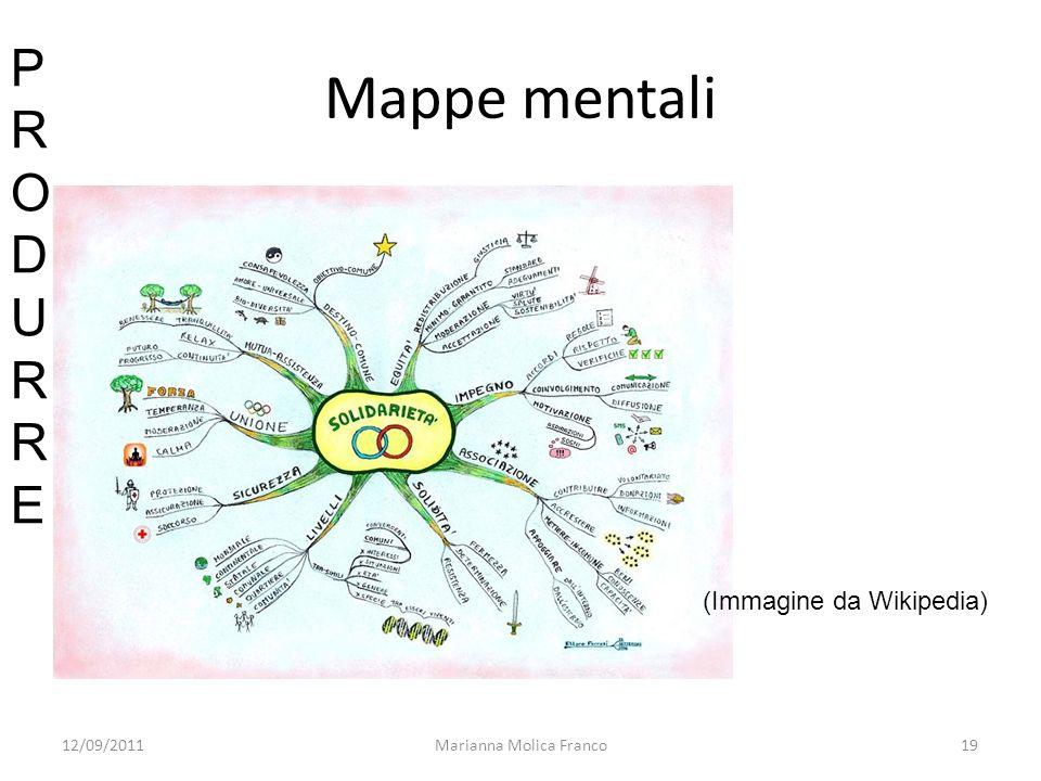 Marianna Molica Franco19 Mappe mentali (Immagine da Wikipedia) PRODURREPRODURRE 12/09/2011