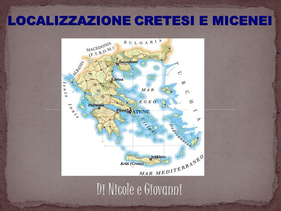 CRETESI -I primi abitanti: DallAsia Minore a Cnosso (6000 a.C.) -Creta: Nella parte sud-orientale del Mediterraneo.