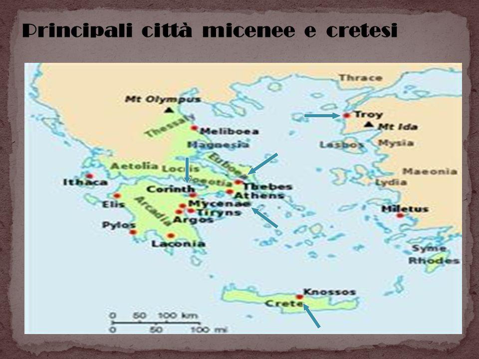 Principali città micenee e cretesi