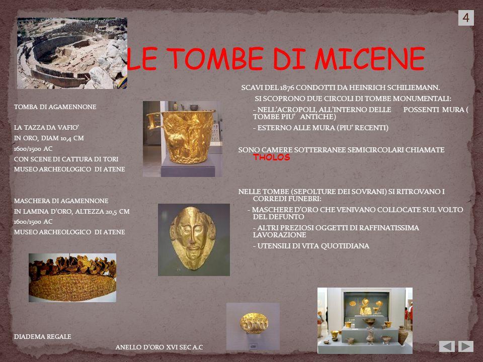 TOMBA DI AGAMENNONE LA TAZZA DA VAFIO IN ORO, DIAM 10,4 CM 1600/1500 AC CON SCENE DI CATTURA DI TORI MUSEO ARCHEOLOGICO DI ATENE MASCHERA DI AGAMENNON