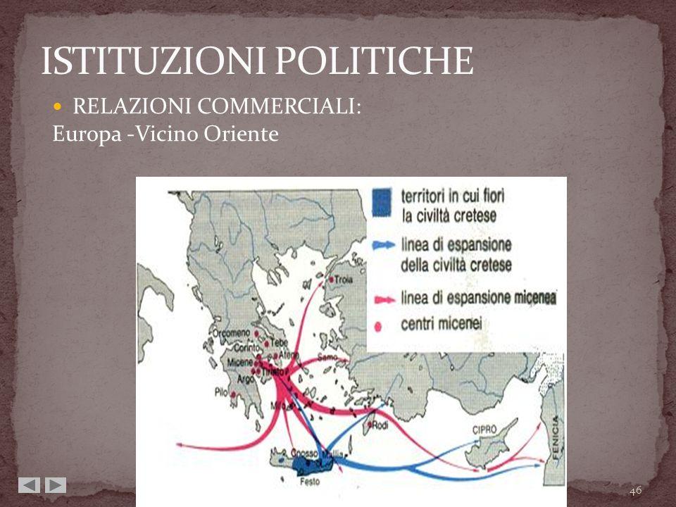 RELAZIONI COMMERCIALI: Europa -Vicino Oriente 46