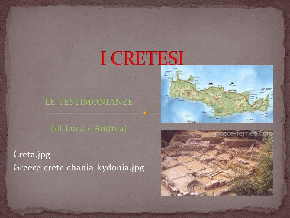 Conosciamo questa civiltà grazie a dei miti antichi; uno di questi è quello del minotauro, tramandato dai racconti di Ovidio e che mostra l usanza cretese di vivere nei palazzi.