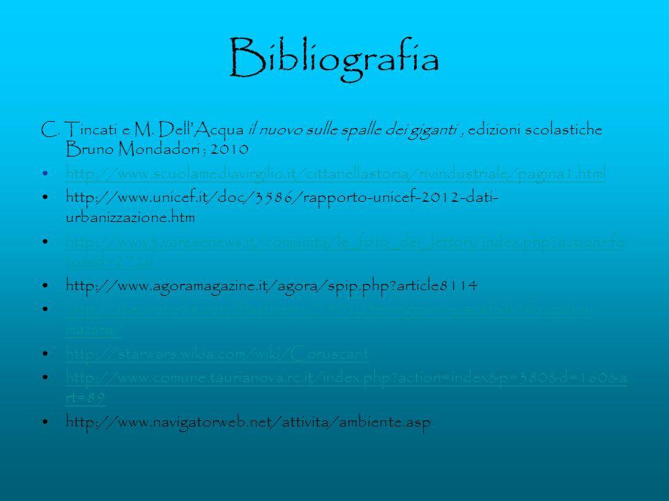 Bibliografia C. Tincati e M. Dell Acqua il nuovo sulle spalle dei giganti, edizioni scolastiche Bruno Mondadori ; 2010 http://www.scuolamediavirgilio.