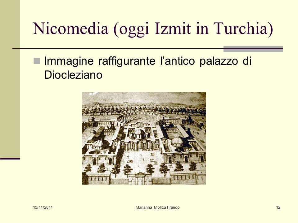 Nicomedia (oggi Izmit in Turchia) Immagine raffigurante lantico palazzo di Diocleziano 15/11/2011 Marianna Molica Franco12