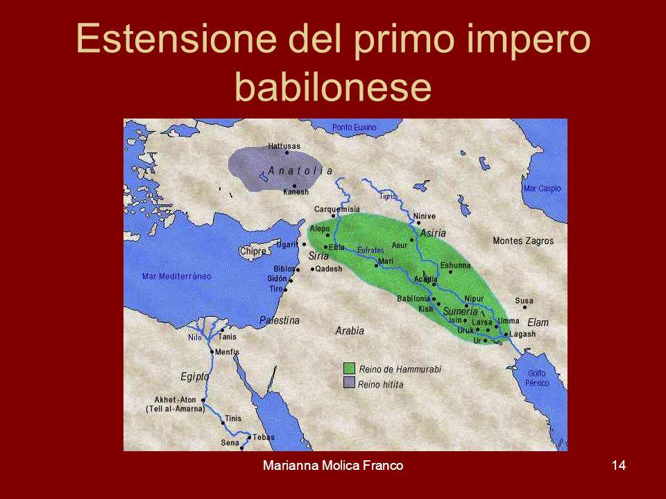 Estensione del primo impero babilonese Marianna Molica Franco14