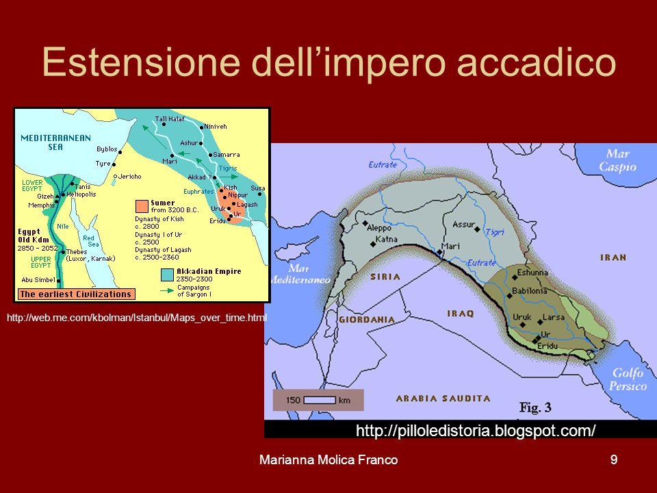 Estensione dellimpero accadico Marianna Molica Franco9 http://pilloledistoria.blogspot.com/ http://web.me.com/kbolman/Istanbul/Maps_over_time.html
