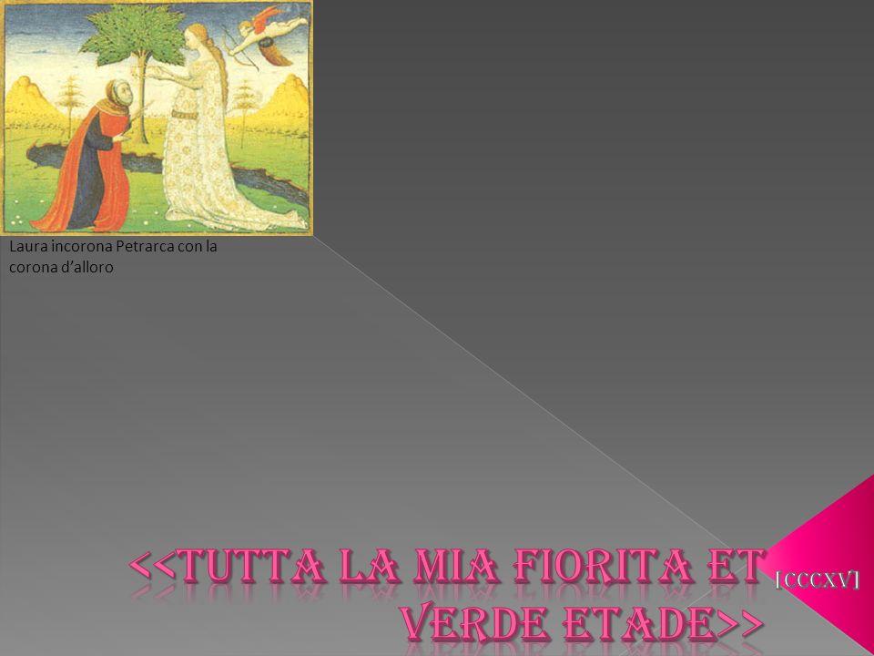 Laura incorona Petrarca con la corona dalloro