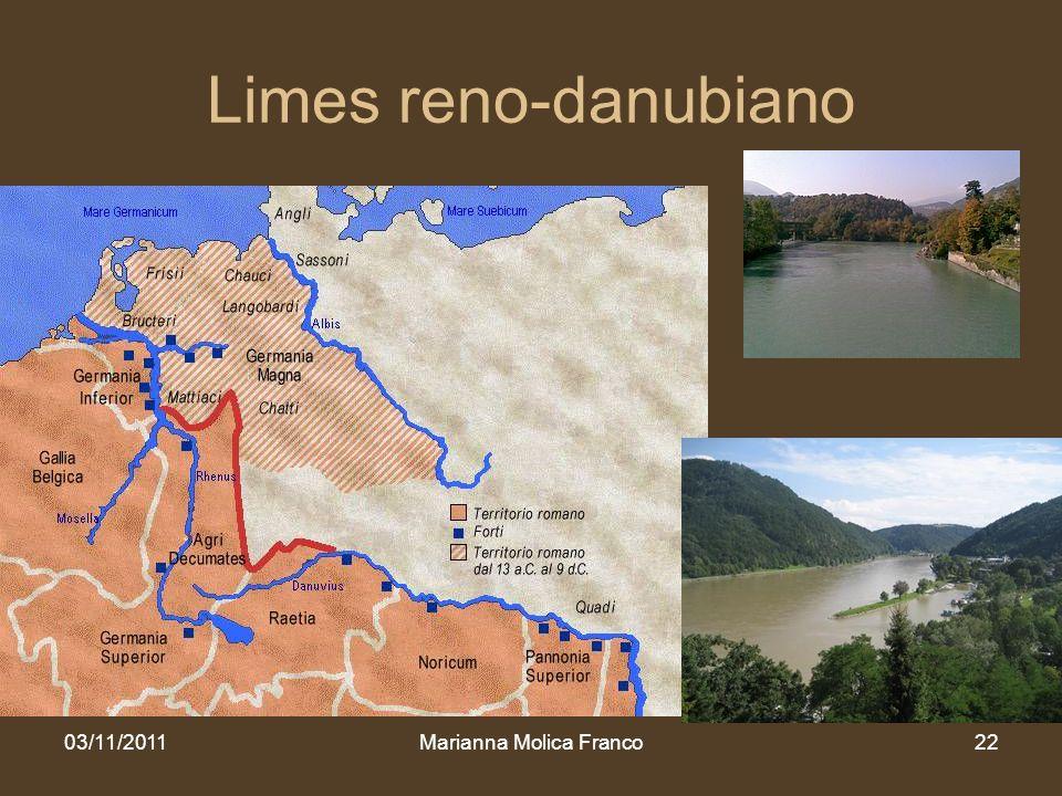 Limes reno-danubiano 03/11/2011Marianna Molica Franco22