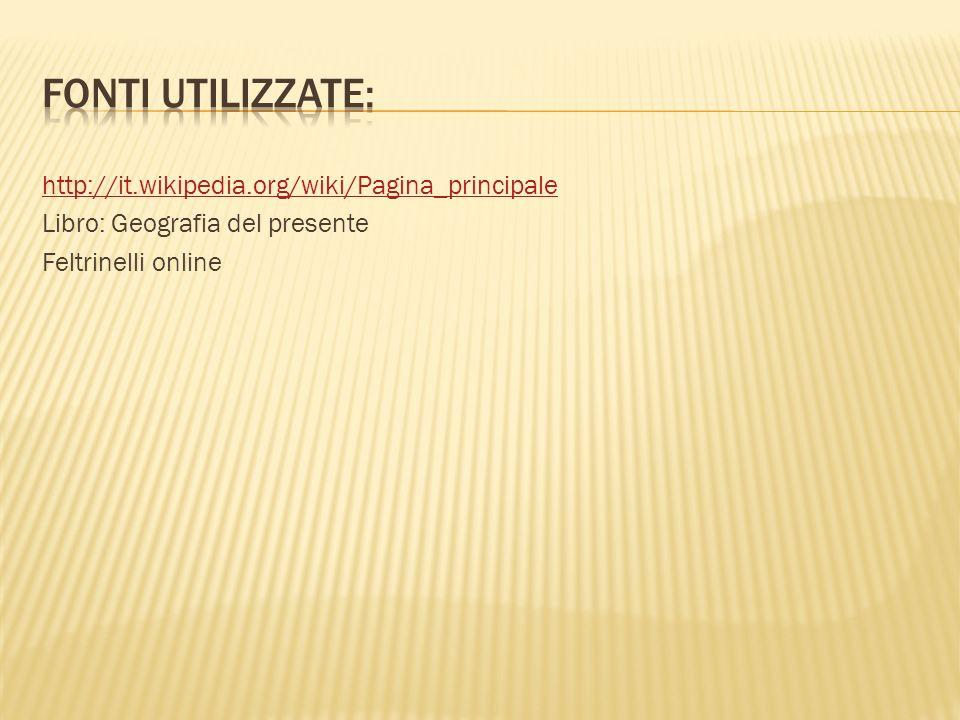 http://it.wikipedia.org/wiki/Pagina_principale Libro: Geografia del presente Feltrinelli online