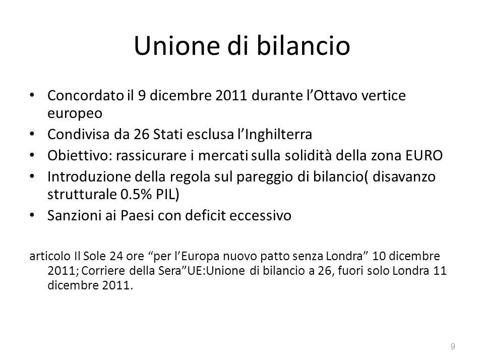 30 Obiettivi 2007-2013 impegni presi dall UE che includono lannettere gli stati con economie più deboli (dellest) al suo interno.