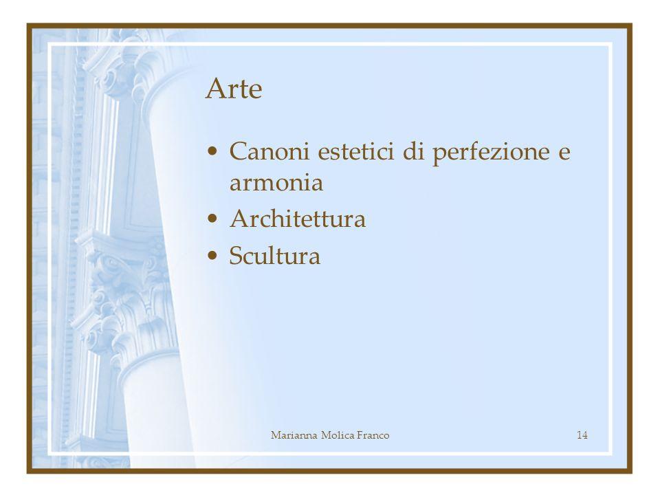 Arte Canoni estetici di perfezione e armonia Architettura Scultura 14Marianna Molica Franco