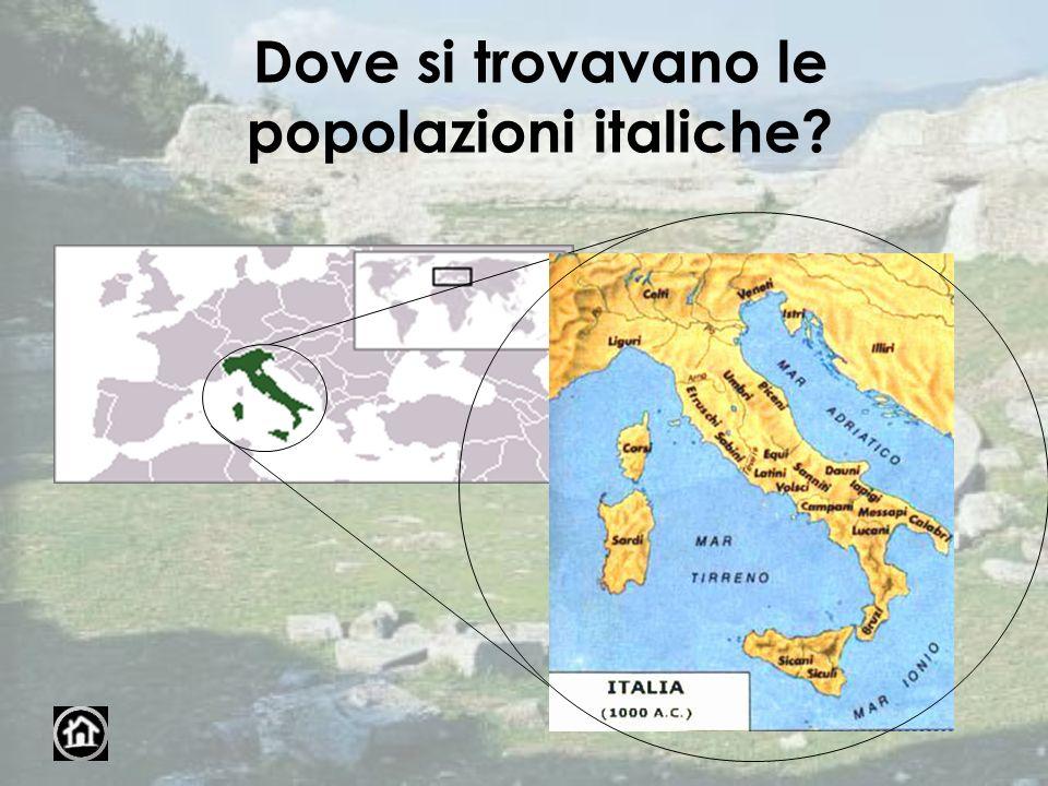 Dove si trovavano le popolazioni italiche?