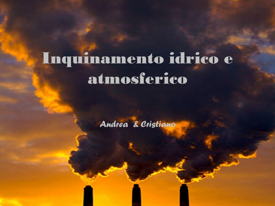 Inquinamento idrico e atmosferico Andrea & Cristiano