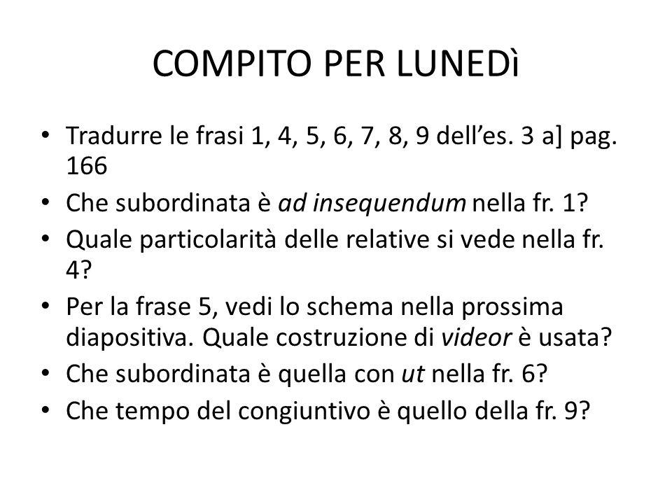 COMPITO PER LUNEDì Tradurre le frasi 1, 4, 5, 6, 7, 8, 9 delles.