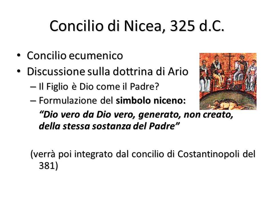 Concilio di Nicea, 325 d.C.