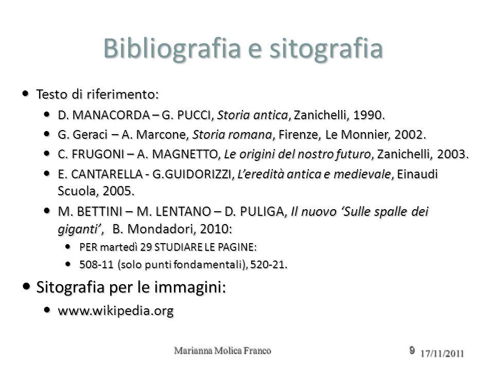 Bibliografia e sitografia Testo di riferimento: Testo di riferimento: D.