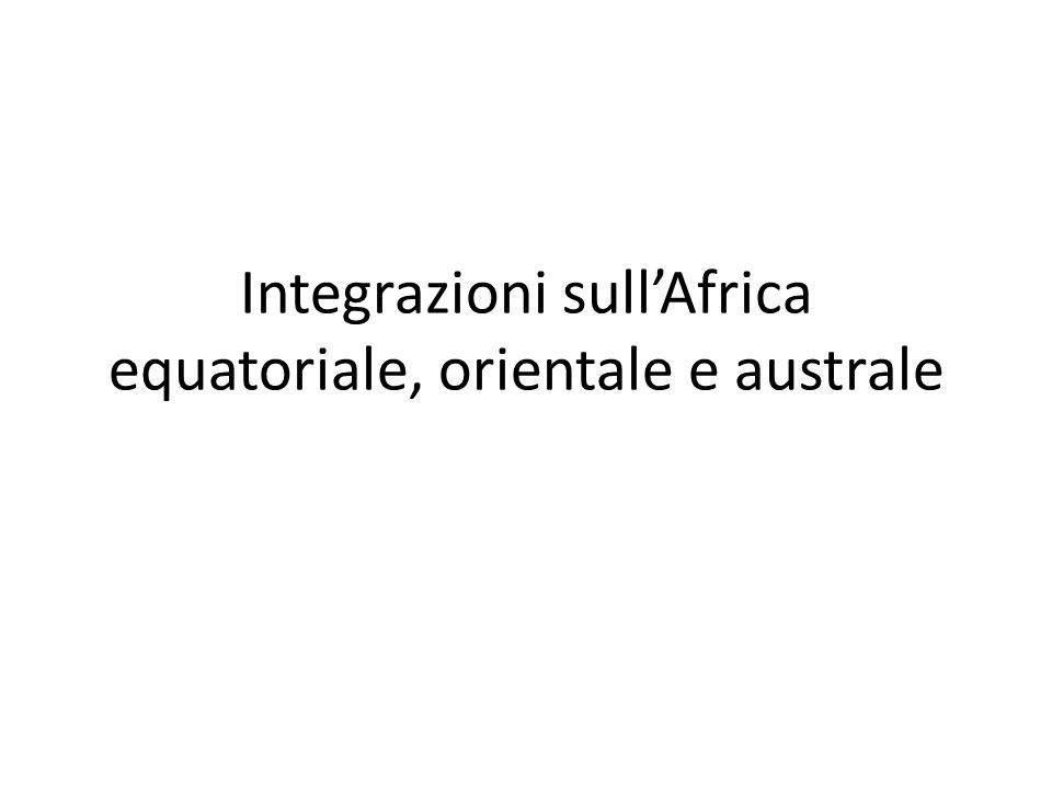 Integrazioni sullAfrica equatoriale, orientale e australe