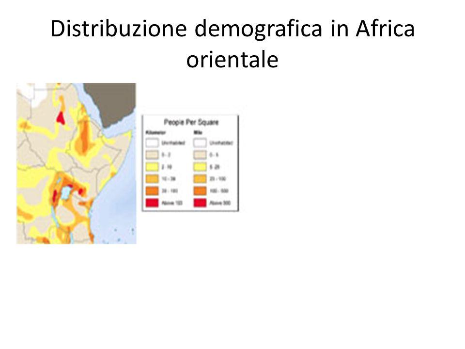 Distribuzione demografica in Africa orientale