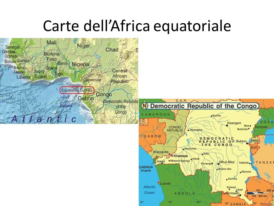 Carte dellAfrica equatoriale