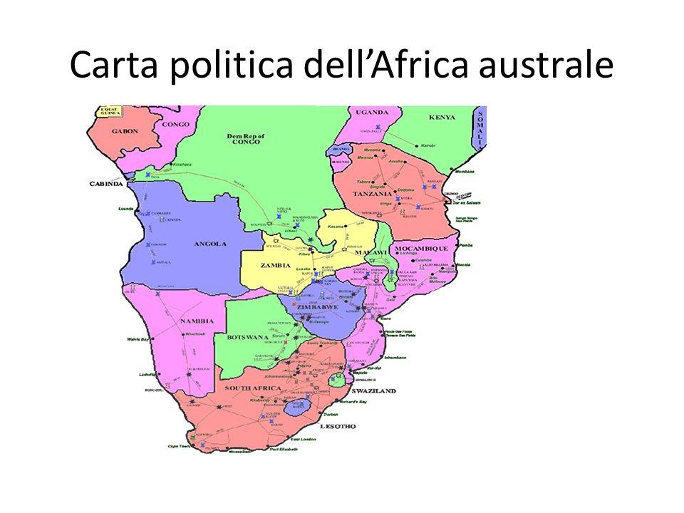 Carta politica dellAfrica australe