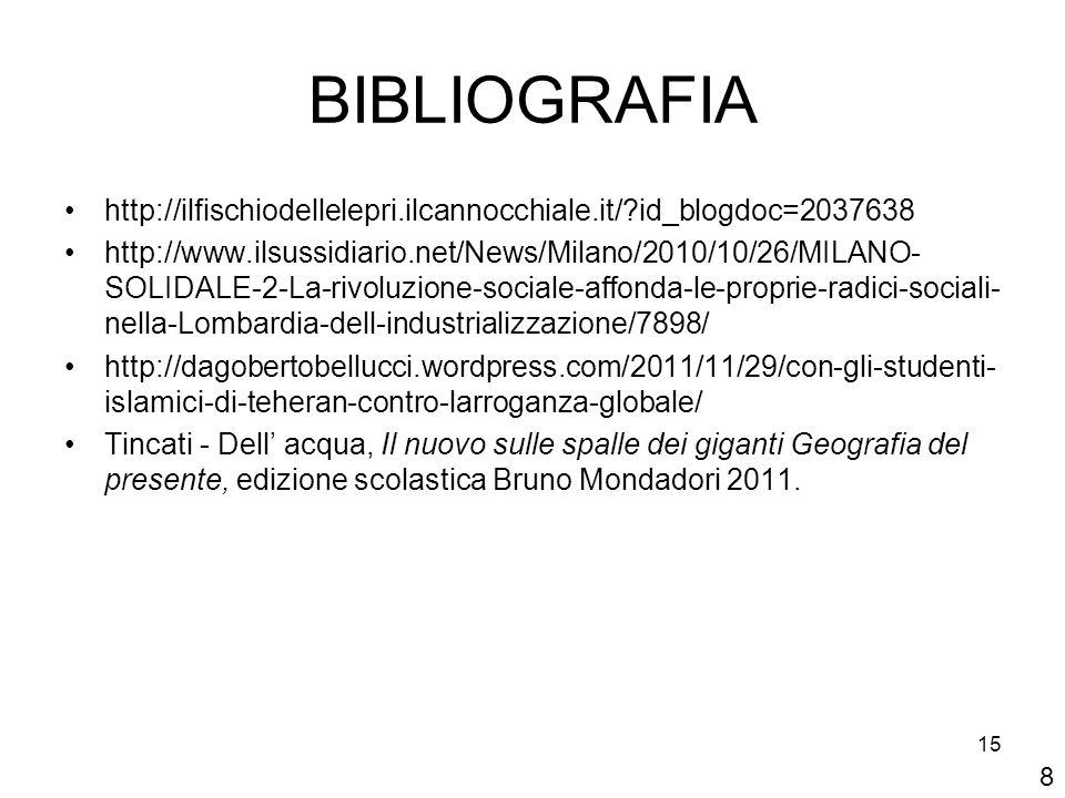 15 BIBLIOGRAFIA http://ilfischiodellelepri.ilcannocchiale.it/?id_blogdoc=2037638 http://www.ilsussidiario.net/News/Milano/2010/10/26/MILANO- SOLIDALE-