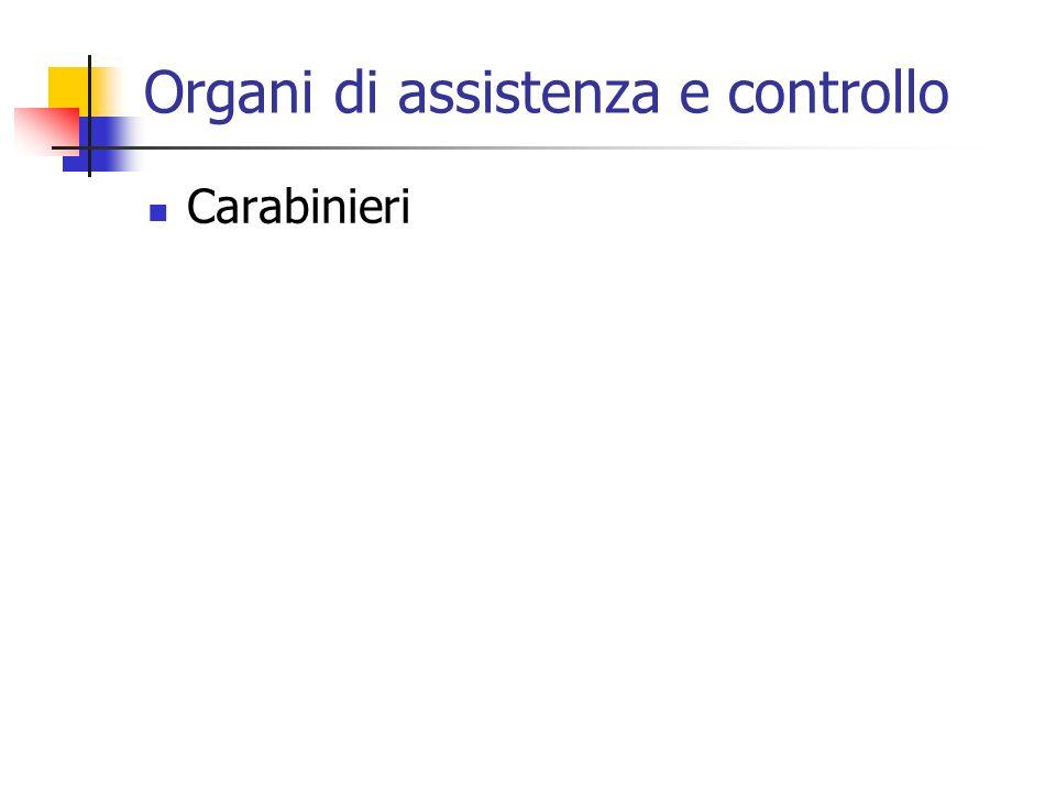 Organi di assistenza e controllo Carabinieri