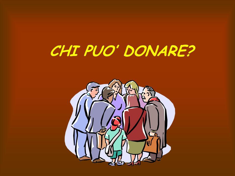 CHI PUO DONARE?