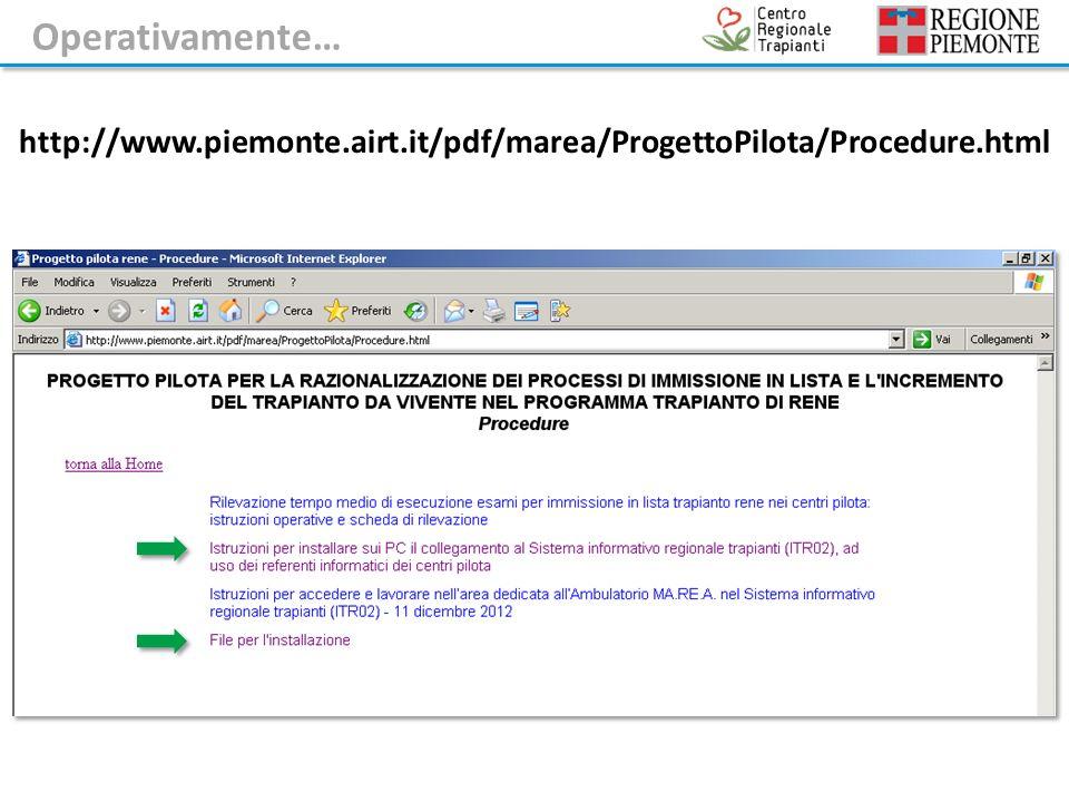 http://www.piemonte.airt.it/pdf/marea/ProgettoPilota/Procedure.html Operativamente…