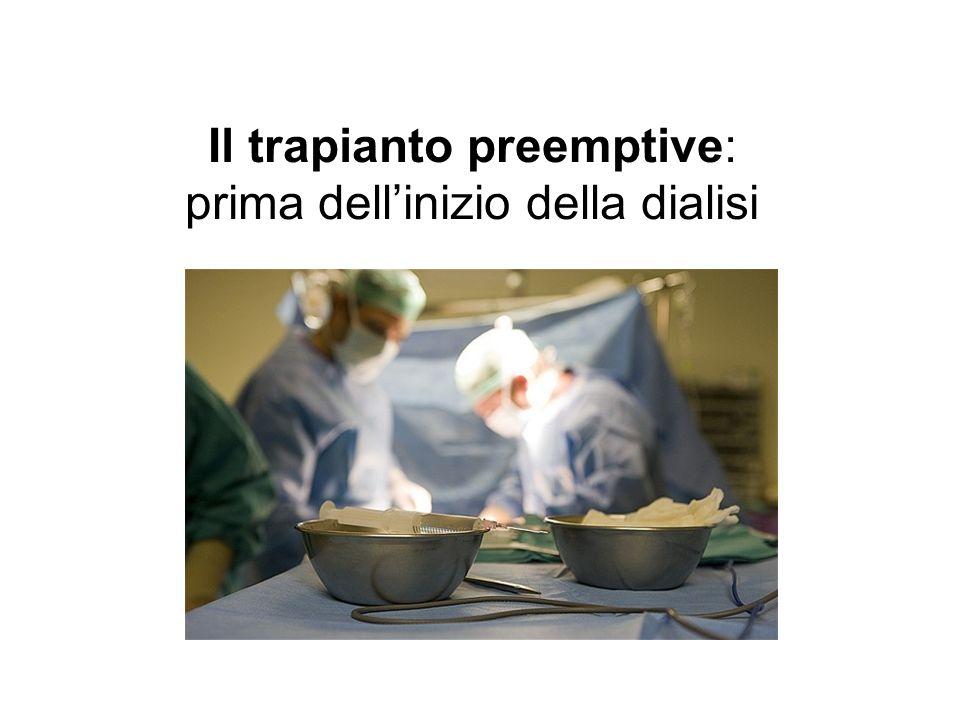 Il trapianto preemptive: prima dellinizio della dialisi