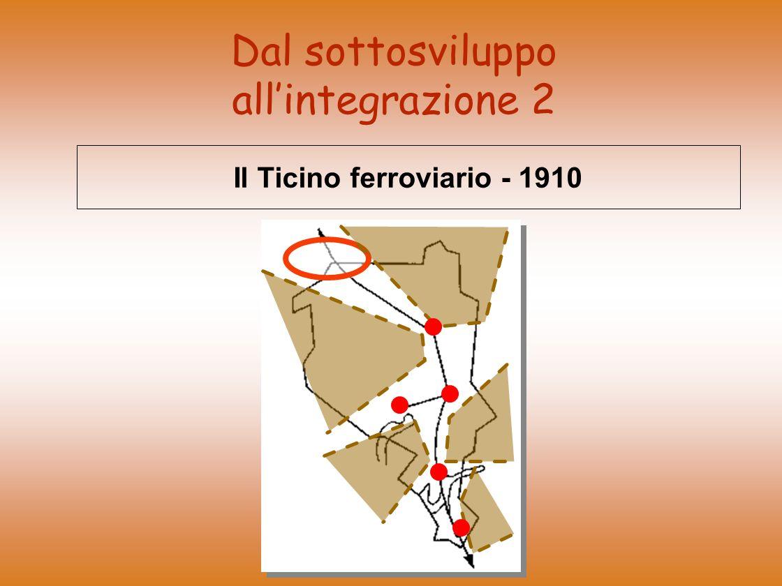 Dal sottosviluppo allintegrazione 2 Il Ticino ferroviario - 1910