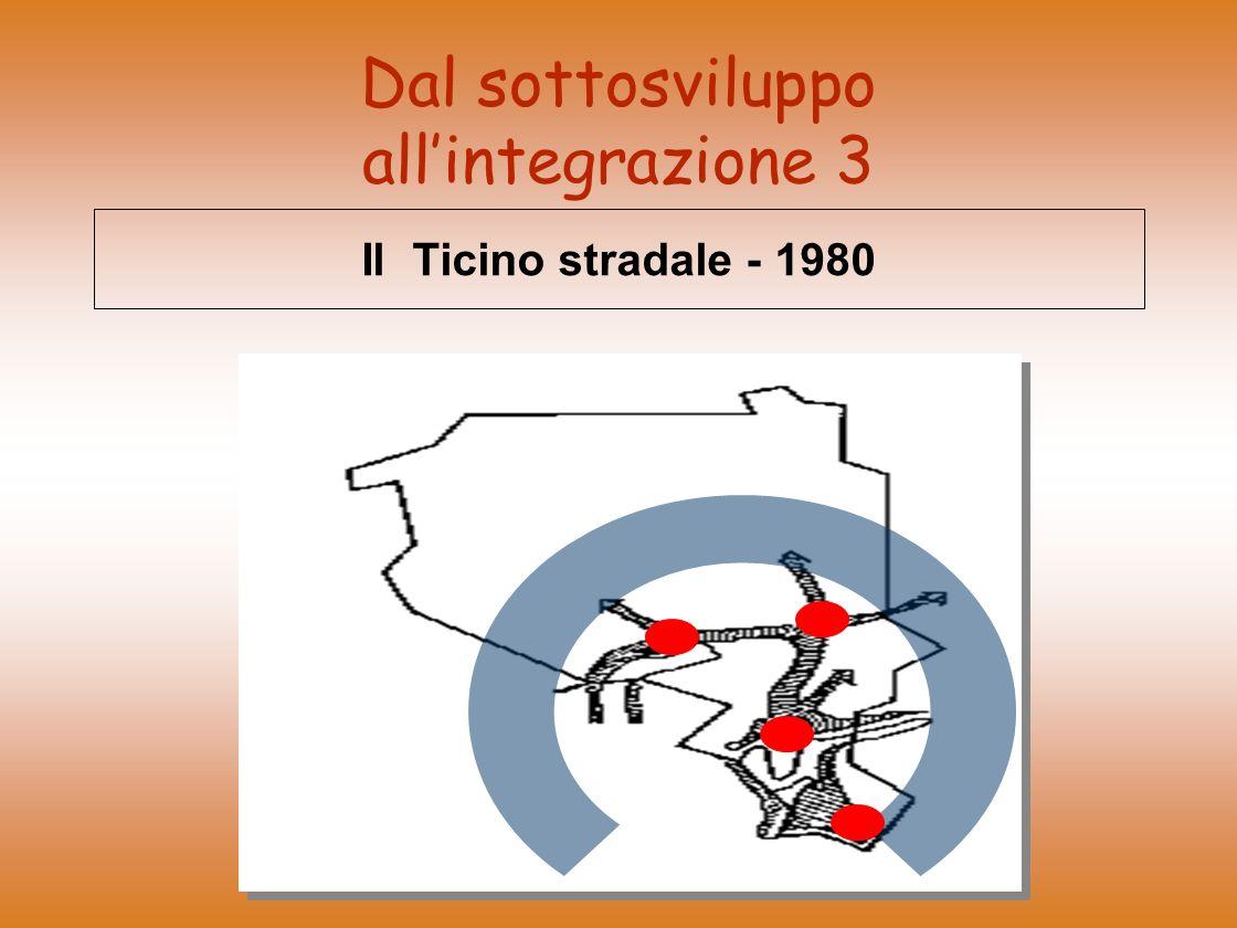 Dal sottosviluppo allintegrazione 3 Il Ticino stradale - 1980