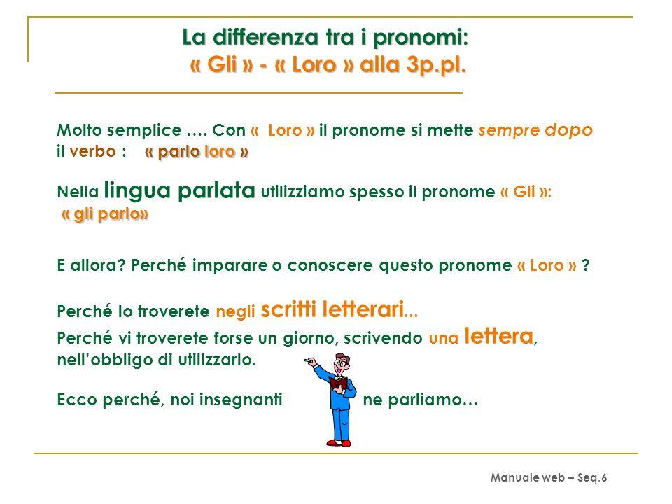 Che cosa avete notato? 1. Che molti pronomi indiretti sono identici ai pronomi diretti (mi-ti-ci-vi). 2. Che rispondono alla domanda « A CHI? »; « A C