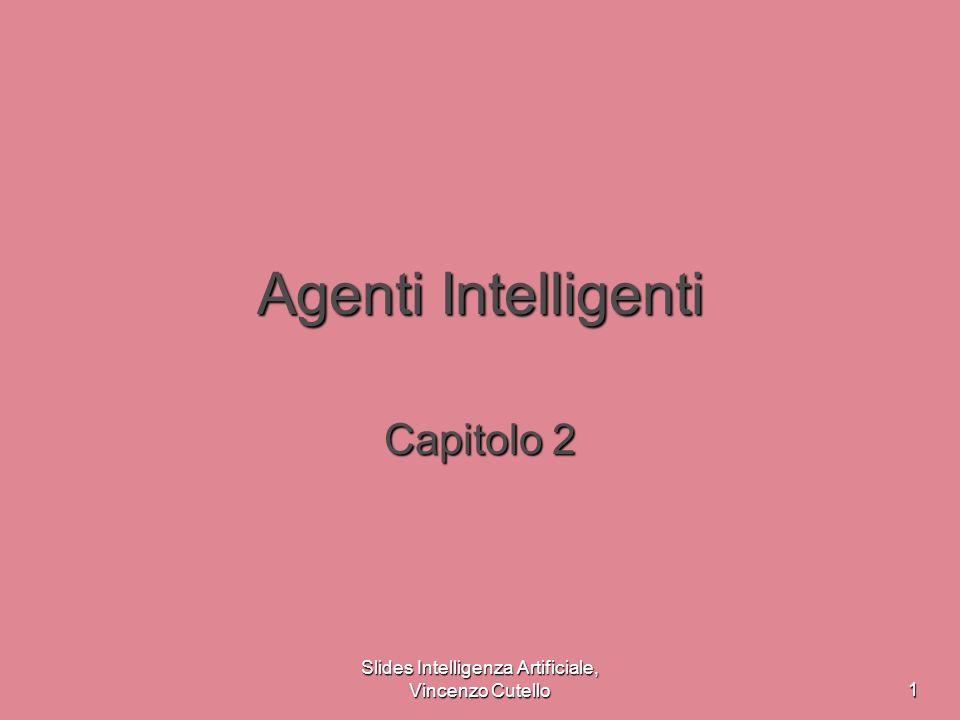 Slides Intelligenza Artificiale, Vincenzo Cutello12 Agenti con stato interno Sensori Agente Attuatori Ambiente Comè il mondo in questo momento Quale azione dovrei fare Regole condizione-azione stato Come si evolve il mondo Cosa fanno le mie azioni