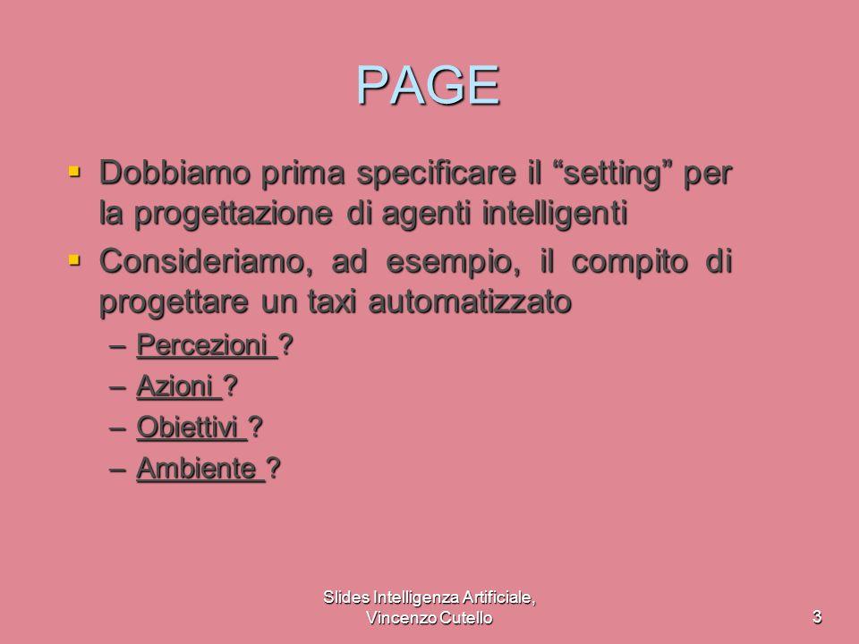 Slides Intelligenza Artificiale, Vincenzo Cutello4 Agente intelligente per acquisti su internet Percezioni .