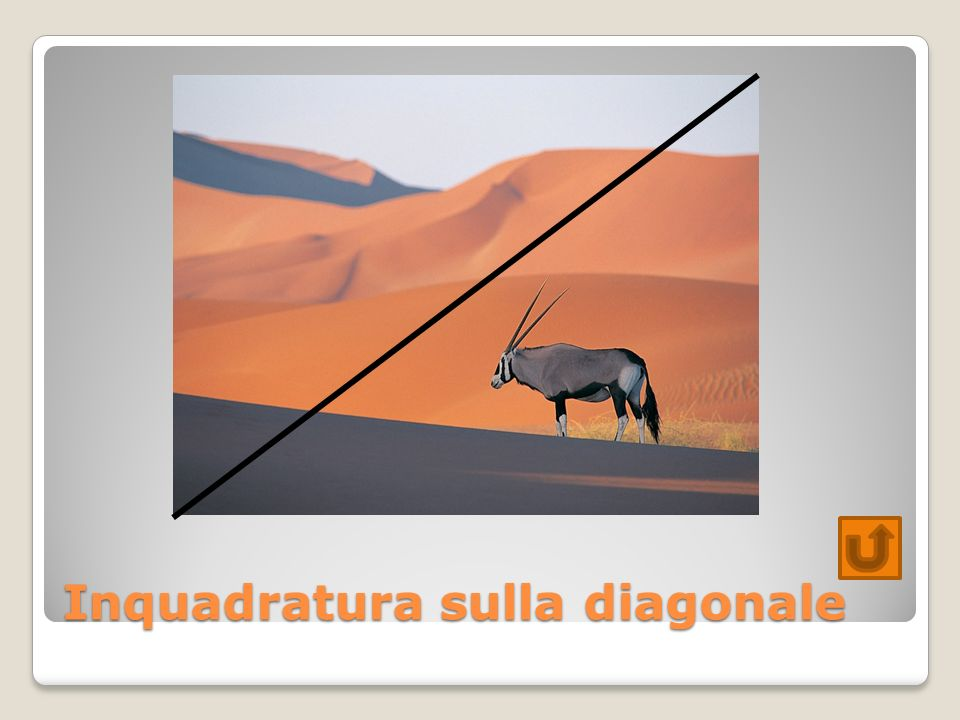 Inquadratura sulla diagonale
