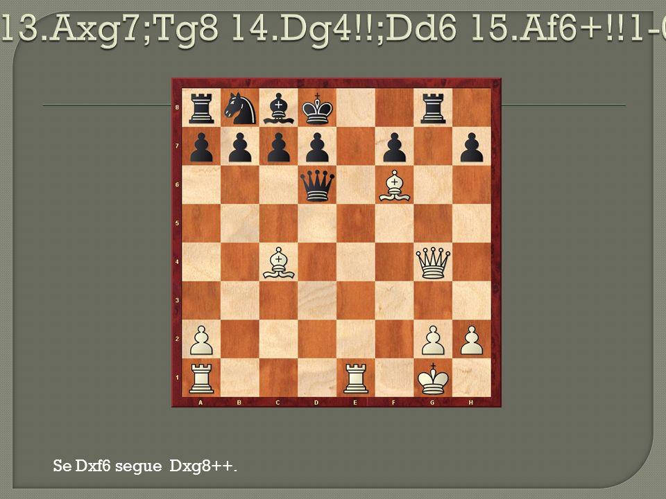 Se Dxf6 segue Dxg8++.