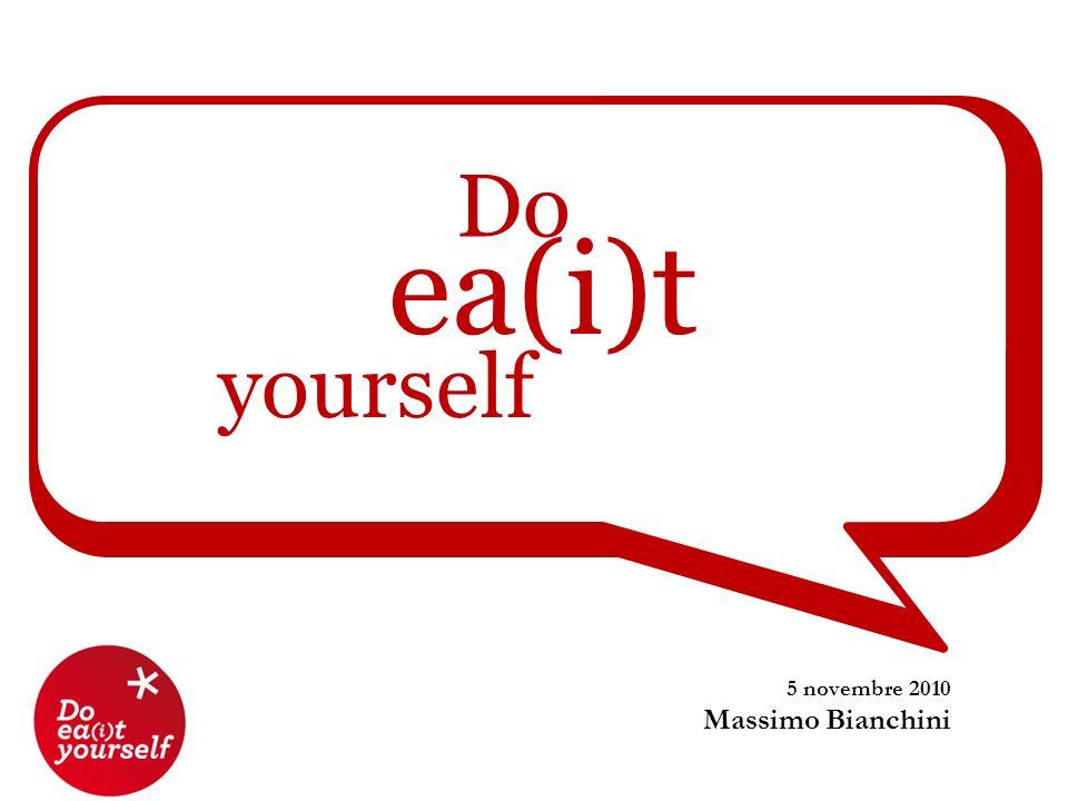 Do ea(i)t yourself 5 novembre 2010 Massimo Bianchini