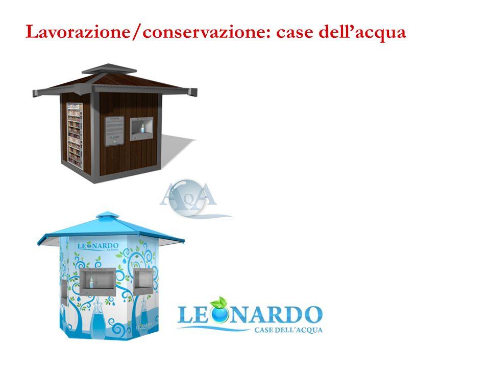 Lavorazione/conservazione: case dellacqua