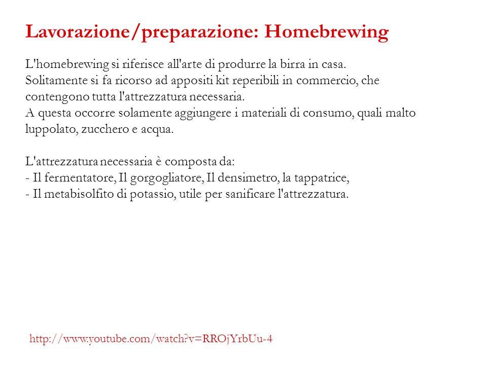 L'homebrewing si riferisce all'arte di produrre la birra in casa. Solitamente si fa ricorso ad appositi kit reperibili in commercio, che contengono tu