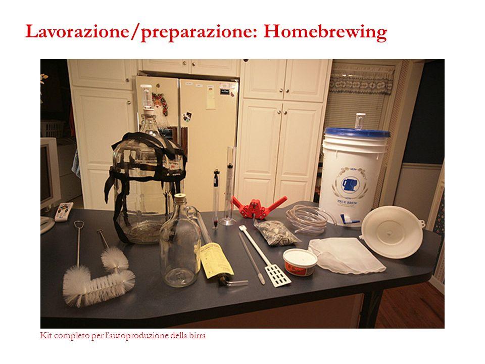 Kit completo per lautoproduzione della birra Lavorazione/preparazione: Homebrewing
