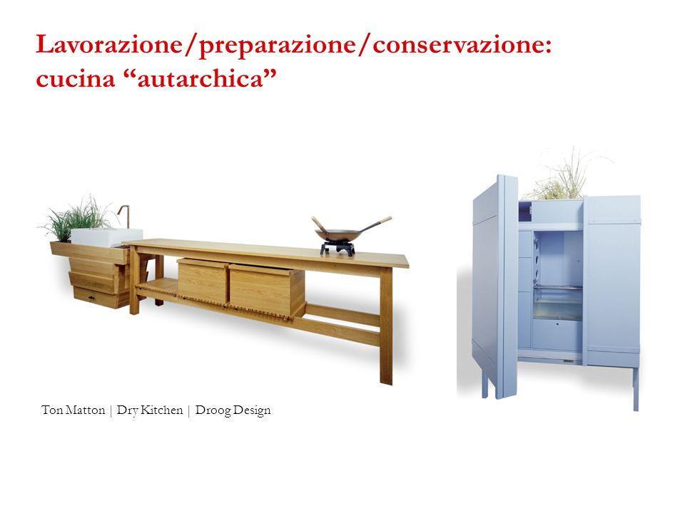 Ton Matton | Dry Kitchen | Droog Design Lavorazione/preparazione/conservazione: cucina autarchica