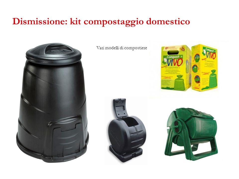 Dismissione: kit compostaggio domestico Vari modelli di compostiere