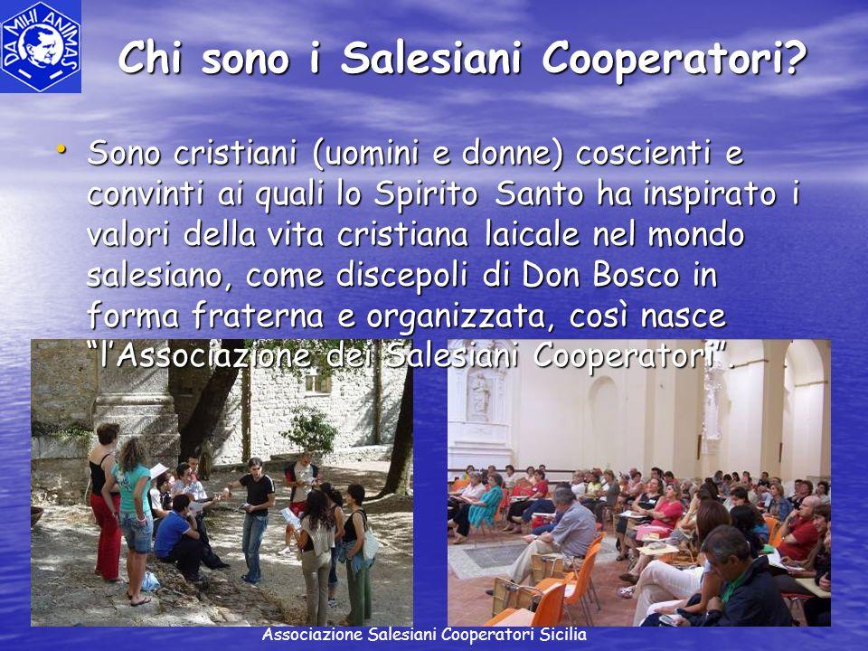 Chi sono i Salesiani Cooperatori? Sono cristiani (uomini e donne) coscienti e convinti ai quali lo Spirito Santo ha inspirato i valori della vita cris